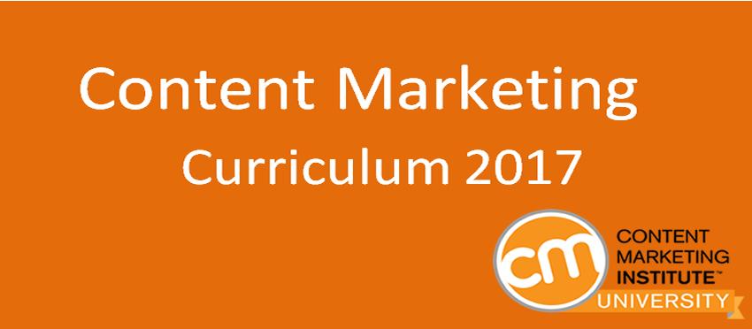 Content Marketing Curriculum 2017